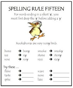 spelling-rule-15 Phonics Rules, Spelling Rules, Spelling Activities, Teaching Phonics, Spelling And Grammar, Teaching Reading, Learning, Listening Activities, English Spelling