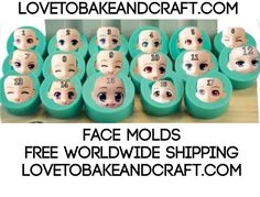 FACE MOLDS FACE MOULDS GREAT SET OF 17 SILICONE FACE MOLDS Beautiful silicone 3D molds All molds are high quality and are made from food grade