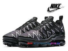 db6f1455ddd Nike Air VaporMax Plus 2018 Chaussures de Basketball Nike TN Prix Pour  Homme White Black AJ6312