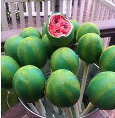 Watermelon party ideas! cake pops ~ Party Frosting