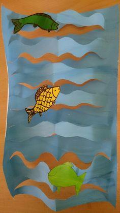 Zvířátka Ocean Theme Crafts, Ocean Unit, Emergent Readers, Animal Crafts, Math Worksheets, Art For Kids, Kindergarten, Preschool, Fish
