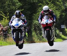 Guy Martin and Michael Dunlop getting some air!