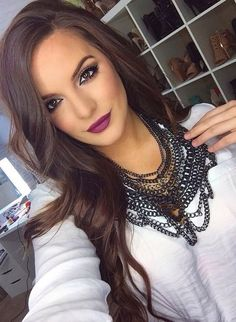 hair color and lip color for fall