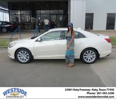 #HappyAnniversary to Ernest Smith on your 2013 #Chevrolet #Malibu from Ernest Smith  at Westside Chevrolet!