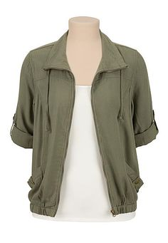 Zip front soft jacket (original price, $39) available at #Maurices
