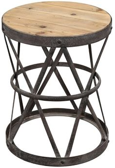 between swivel chairs Everett Reclaimed Wood Side Table
