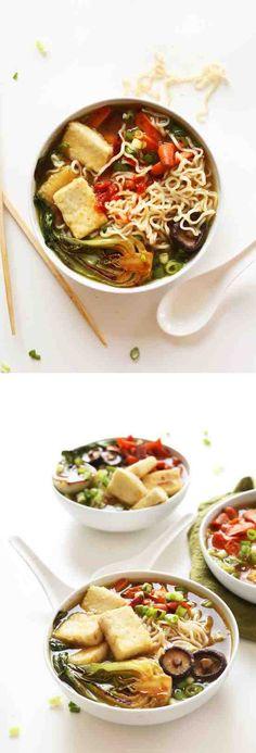 EASY VEGAN RAMEN - healthy, mushroom, noodle, ramen, recipes, vegan