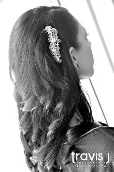 Wedding Hair Down with hair piece, Travis J Photography, Colorado
