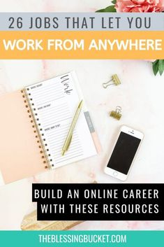 Here are 26 jobs that let you work from anywhere in the world online. Whether you want to work in your PJs or take your job on the road, you can. #remotejobs #digitalnomad #workonline