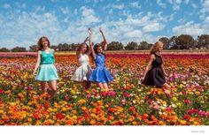 rosa cha festival style 2015 spring ad campaign05 Barbara Palvin, Erin Heatherton, Frida Gustavsson Wear Festival Style for Rosa Cha Spring ...
