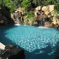 Custom Swimming Pools from Ultimate Water Creations - Los Angeles Swimming Pool Construction Natural Swimming Pools, Swimming Pools Backyard, Swimming Pool Designs, Natural Pools, Swimming Pool Construction, Waterfall Features, Luxury Pools, Koi, Dream Pools