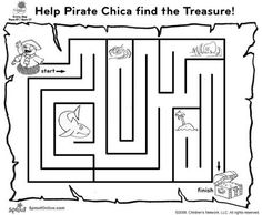 pirate maze activity page sunny side up show coloring pages for kids sprout
