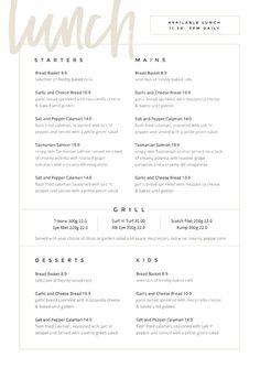 Restaurant Menu Templates - Easil - Easil - -Customizable Restaurant Menu Templates - Easil - Easil - - Foil-Pressed Menus by Minted Menu Restaurant, Resturant Menu, Restaurant Menu Template, Restaurant Design, Restaurant Identity, Online Restaurant, Bar Menu, Cafe Menu Design, Food Menu Design
