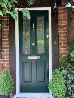 Green Solidor Composite Front Door - Composite Door in the UK by Wright Glazing in Kingswood Surrey. Front Entry, Entry Doors, Composite Front Doors Uk, Green Front Doors, Victorian Terrace House, House Front Door, Wimbledon, Door Ideas, Surrey