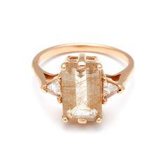 Rutilated Quartz Bea Engagement ring, both alternative & ceremonial – Anna Sheffield Jewelry