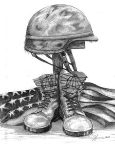 Cross Drawing - Soldiers Cross Remember The Fallen by J Ferwerda Army Drawing, Soldier Drawing, Cross Drawing, Drawing Sketches, Pencil Drawings, American Flag Drawing, Military Drawings, Cross Art, Military Art