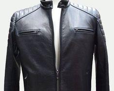 Etsy :: Jouw platform voor het kopen en verkopen van handgemaakte items Leather Jacket Dress, Trending Outfits, Unique, Jackets, Clothes, Etsy, Dresses, Fashion, Down Jackets