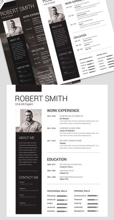 Simple and Clean Resume Free PSD Template | Freebies PSD