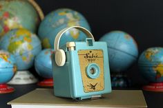 Vintage Sabre 620 Camera Made In USA Turquoise Valiant by Circa810, $37.00