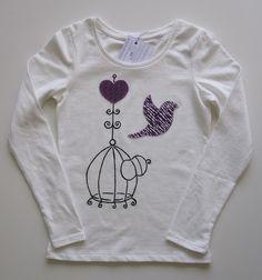 cocodrilova: camiseta jaula y pajaro