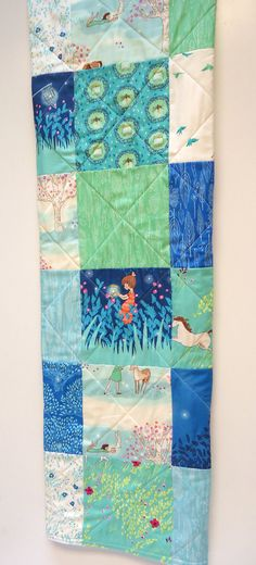 Baby Quilt-Gender Neutral-Modern Fabric-Wee Wander-Traditional Patchwork Baby Blanket or Crib Bedding