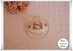 Jabón con transfer y decoupage