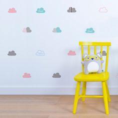 Vinilo infantil de mini nubes de colores original - Minimoi