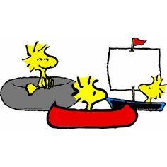Snoopy & Woodstock~Water fun