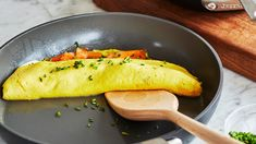 Check out this recipe! Omelette Pan, Cheese Omelette, Omelette Recipe, I Chef, Stuffed Mushrooms, Stuffed Peppers, Breakfast Menu, Thing 1, Recipe Ratings