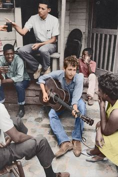 Bob Dylan's Biography of American Racism. (Colorized Photo).