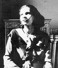 Artist Gwendolyn Knight in the mid-1930s. She married fellow artist, Jacob Lawrence in 1941, and was married to him until his death in 2000. Read about them both on their foundation Web site: http://www.jacobandgwenlawrence.org/ Before her death in 2005, Knight directed their legacy toward educating and supporting young artists.