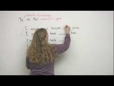 TO vs. FOR (a very simple explanation) - learn English,preposition,grammar,english
