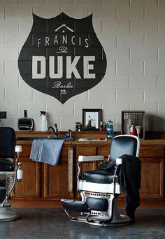 The Duke - great barber shop branding