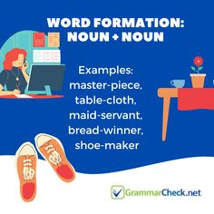 Word Formation: Noun + Noun Word Formation, Bread Winners, Care About You, Grammar, Maid, Vocabulary, Infographic, How To Become, Writer