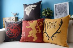 Game of Thrones Pillows,  Yellow, Blue, Cross, Ready to use, Creative, Cozy, Modern Home Decor, Pillow , wedding gift