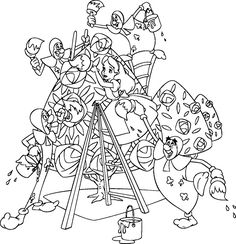 Free Alice in Wonderland Color Pages