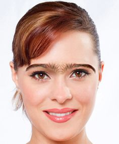 A quick unibrow wax and problem solved! It's like staring at a big pimple or mole on someones face. You just can't stop from looking at it, as hard as you may try.