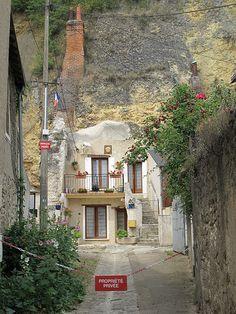 A troglodyte house in Amboise, France