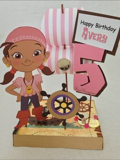 Izzy from Jake and the Neverland Pirates Birthday Party Centerpiece Decoration