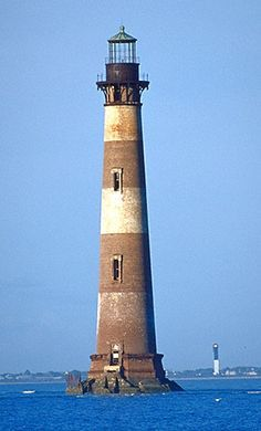 Morris Island Lighthouse (foreground) and Sullivan's Island Lighthouse (background)...this picture is too cool....