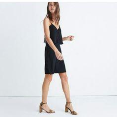 Iso Madewell Silk Lowlight Lace-Inset Mini Dress