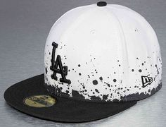 LA Dodgers Splatter 59FIfty Fitted Cap by NEW ERA x MLB