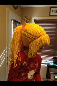 Rainbow brite costume wig