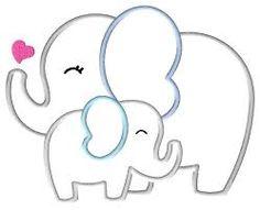 elephant applique template google search baby shower pinterest