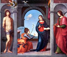 Annunciation by Mariotto Albertinelli (1508)