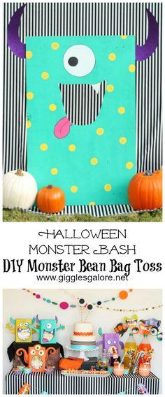 DecoArt Blog - Crafts - Halloween Monster Bean Bag Toss