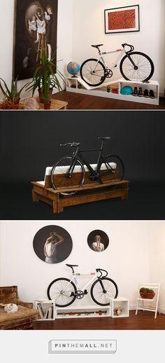 Des meubles spécialement conçus pour ranger son fixie dans son appartement !