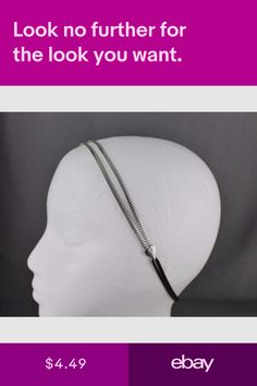 Hair Accessories Clothing, Shoes & Accessories #ebay Skinny Headbands, Elastic Headbands, Thin Skinny, Headband Hairstyles, Hair Band, Arrow Necklace, Hair Accessories, Chain, Clothing