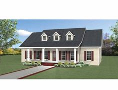 Love #2, remove dining room, widen foyer and add bigger closet, pop out breakfast nook to fit bench and full dining table, love! Eplans Country House Plan - Relax on These Porches - 1958 Square Feet and 3 Bedrooms(s) from Eplans - House Plan Code HWEPL69222
