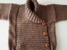 Şal Yaka Kruvaze Bebek Hırka Modeli Yapımı Men Sweater, Crochet, Sweaters, Places, Fashion, Knits, Dots, Amigurumi, Moda